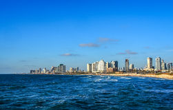 Mediterranean coast of Tel Aviv, Israel Stock Images