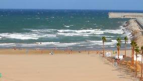 Mediterranean coast. Valencia, Spain stock video footage