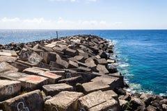 Mediterranean coast. View on the Mediterranean sea of the Canaries Stock Photos