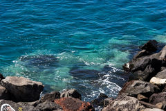 Mediterranean coast. View on the Mediterranean sea of the Canaries Stock Images