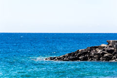 Mediterranean coast. View on the Mediterranean sea of the Canaries Royalty Free Stock Photography