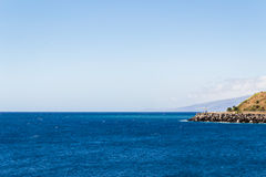 Mediterranean coast. View on the Mediterranean sea of the Canaries Royalty Free Stock Photo