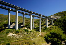 Mediterranean Coastal Highway in Spain Royalty Free Stock Photo