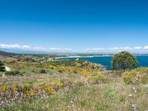 Mediterranean coastal landscape Stock Images