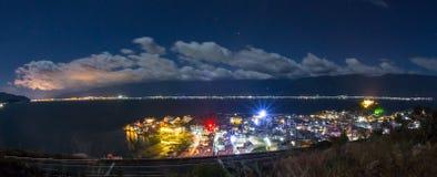 Mediterranean coastal resort town Stock Photo