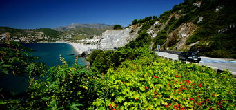Mediterranean Coastal Road Stock Photo