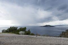 Mediterranean coastal scenery Stock Images