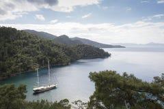 Mediterranean coastal scenery Royalty Free Stock Images