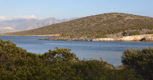 Mediterranean coastline at Elounda. Crete. Greece Stock Photo