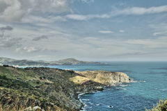 Mediterranean coastline in France Royalty Free Stock Images