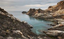 Mediterranean coastline landscape in Creus Cape. Girona, Spain Stock Images