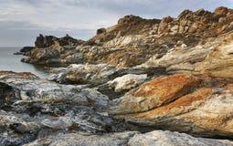 Mediterranean coastline landscape in Creus Cape. Girona, Spain Stock Image