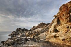 Mediterranean coastline landscape in Creus Cape. Girona, Spain Royalty Free Stock Photos
