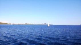 Mediterranean coastline stock video footage
