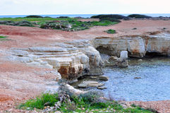 Mediterranean coastline. Seacaves on the mediterranean coastline Stock Photography