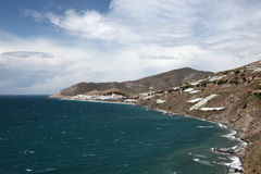 Mediterranean coastline, Spain Royalty Free Stock Photography