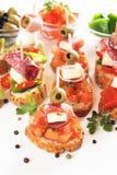 Mediterranean cold buffet Stock Photos