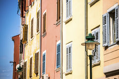 Mediterranean, colorful buildings Royalty Free Stock Images