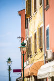 Mediterranean, colorful buildings Stock Images