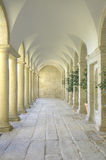 Mediterranean court of columns Stock Image