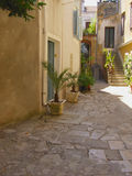 Mediterranean courtyard Stock Images
