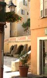 Mediterranean Courtyard. Passage leading into courtyard Stock Images