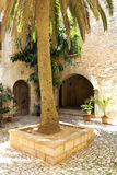 Mediterranean courtyard Stock Photo
