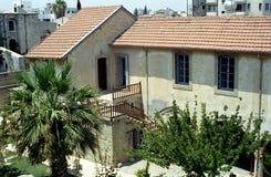 Mediterranean courtyard, Larnaca, Cyprus Royalty Free Stock Photo