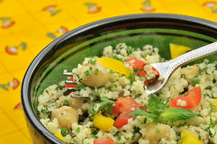 Mediterranean couscous salad Royalty Free Stock Image