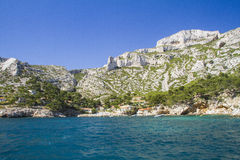 Mediterranean cove. One of Cassis coves in Provence Royalty Free Stock Image
