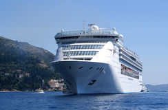 Mediterranean cruise ship stock images