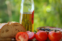 Mediterranean cuisine. Ingredients of the kitchen mediterranean Royalty Free Stock Photo