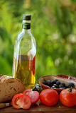 Mediterranean cuisine. Ingredients of the kitchen mediterranean Stock Image