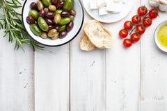 Mediterranean cuisine ingredients Stock Photo