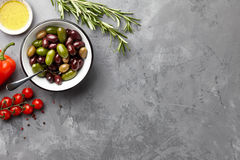 Mediterranean cuisine ingredients Royalty Free Stock Photo