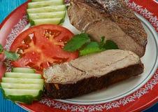 Mediterranean cuisine Italian Style Pepper Steak Royalty Free Stock Photography