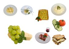 Mediterranean Cuisine Mix Royalty Free Stock Photo
