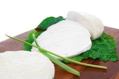 Mediterranean cuisine : raw soft feta Stock Photos