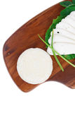 Mediterranean cuisine : raw soft feta Royalty Free Stock Photo