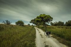 Mediterranean cycling path 2 Royalty Free Stock Images