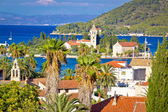 Mediterranean destiation of Vis island nature and architecture Stock Photo