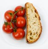 Mediterranean diet bread and tomato Stock Photo