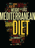 Mediterranean Diet And The South Beach Diet A Detailed Comparison Text Background  Word Cloud Concept Stock Image