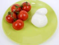Mediterranean diet tomato and mozzarella Stock Photography