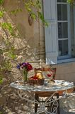 Mediterranean dinner. In the provence, france Stock Photos
