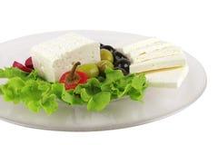 Mediterranean dinner served on glass Stock Photo