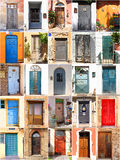Mediterranean doors. Background set from Mediterranean doors Royalty Free Stock Image