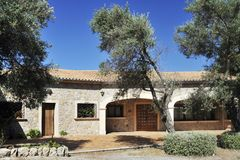 Mediterranean Exotic House Stock Photography