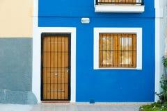 Mediterranean facade stock photos