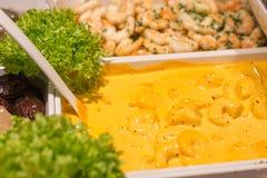 Mediterranean fish and antipasti on a street market royalty free stock photo
